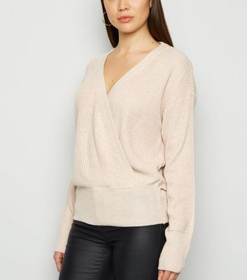 QED Stone Wrap Jumper New Look