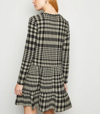 JDY Black Check Smock Dress New Look
