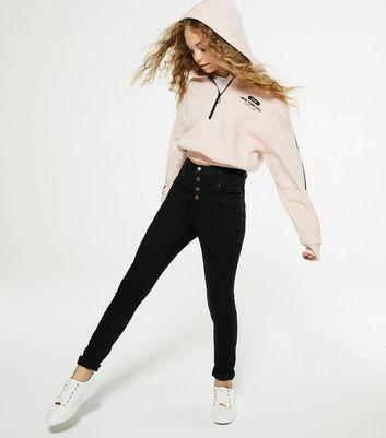 Girls Black High Waist Yazmin Skinny Jeans   New Look