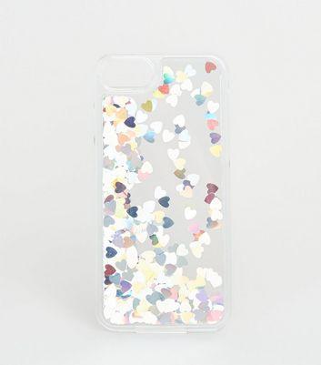 Coque pour iPhone 6/6s/7/8 argentée effet holographique