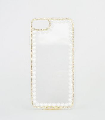 Coque pour iPhone 6/7/8 multicolore à effet perles