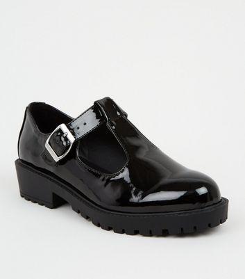 Girls Black Patent Mary Jane Shoes
