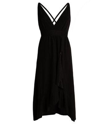 Port Boutique Black Glitter Cross Back Maxi Dress New Look