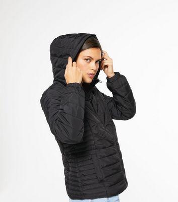 Black Hooded Puffer Jacket | New Look