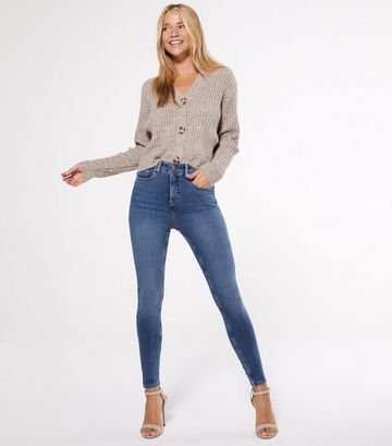 Petite Blue Contour Super Skinny Jeans