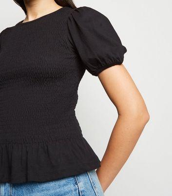 New Look Peplum Hem Poplin Camisa para Mujer