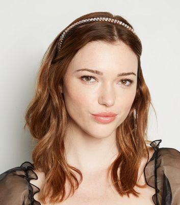 2 pack multicoloured pastel diamanté headbands new look