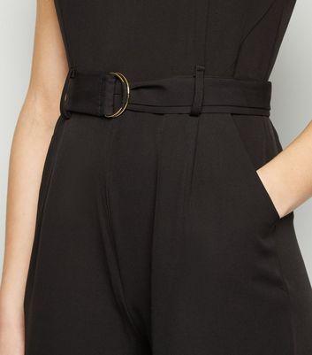 Mela Black D Ring Belted Culotte Jumpsuit New Look