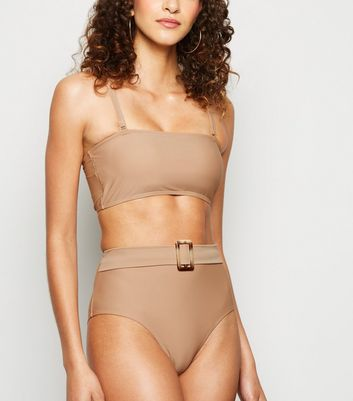 Vero Moda Light Brown High Waist Bikini Bottoms New Look