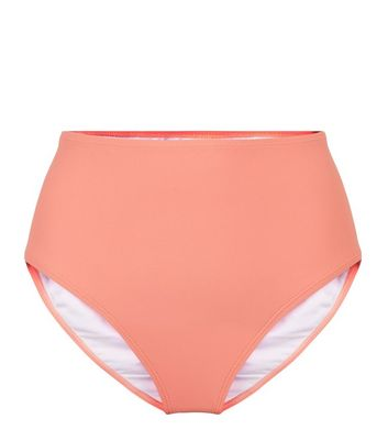 Vero Moda Coral High Waist Bikini Bottoms New Look