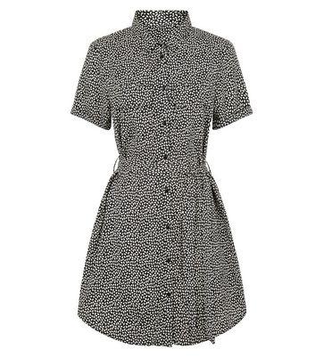 Brave Soul Black Spot Mini Shirt Dress New Look