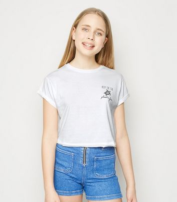 Girls T shirt blanc à slogan Plastic Free Ajouter à la Wishlist Supprimer de la Wishlist