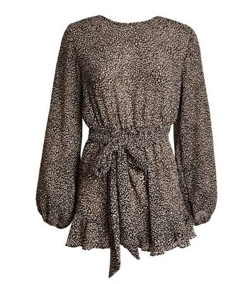 Another Look Black Animal Print Playsuit New Look