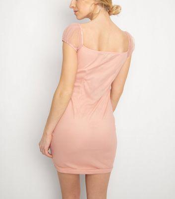 NaaNaa Mid Pink Cap Sleeve Dress New Look