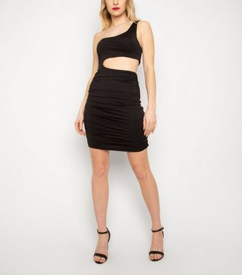 New Age Rebel Black Cut Out Dress New Look
