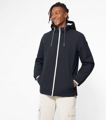 shop for Men's Only & Sons Dark Purple Hooded Windbreaker Jacket New Look at Shopo