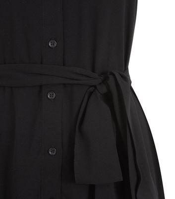 NA-KD Black Belted Midi Shirt Dress New Look
