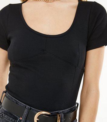 Size 18 BNWT Black Scoop Neck Bodysuit New Look