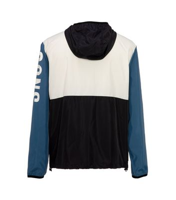shop for Men's Only & Sons Teal Colour Block Slogan Anorak New Look at Shopo