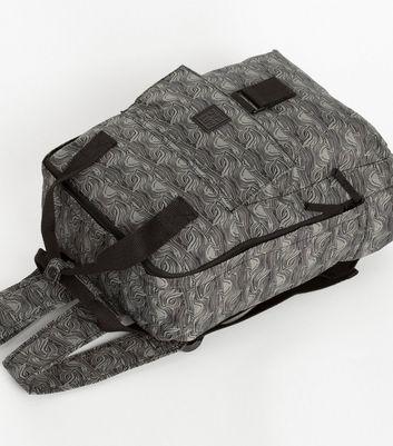 Artsac Light Grey Scribble Print Square Backpack New Look