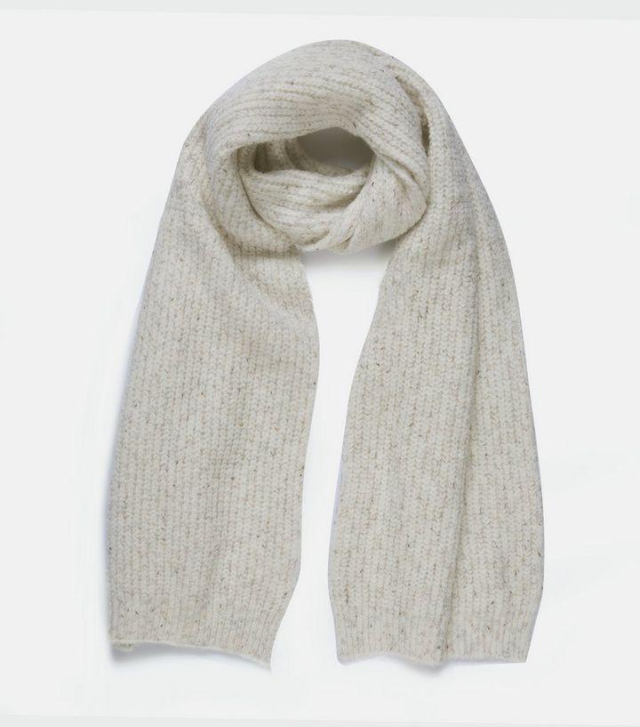 Cream Fine Knit Scarf
