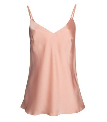 JUSTYOUROUTFIT Pale Pink Satin Cami New Look