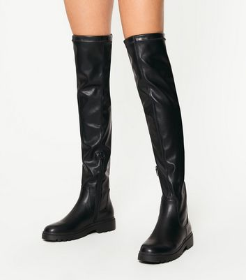 Knee Tie Top Chunky Boots