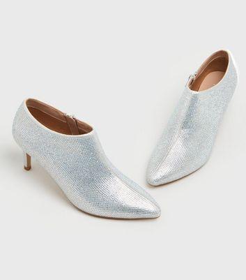 shop for Silver Diamanté Stiletto Shoe Boots New Look Vegan at Shopo