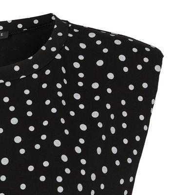 cameo rose black spot shoulder pad t-shirt new look