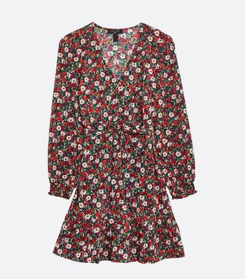 Click to view product details and reviews for Tall Black Floral Puff Sleeve Belted Tea Dress New Look.
