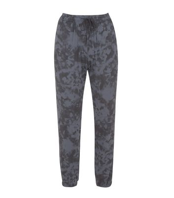 Cameo Rose Black Camo Joggers New Look