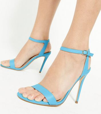 shop for Blue 2 Part Stiletto Heel Sandals New Look at Shopo