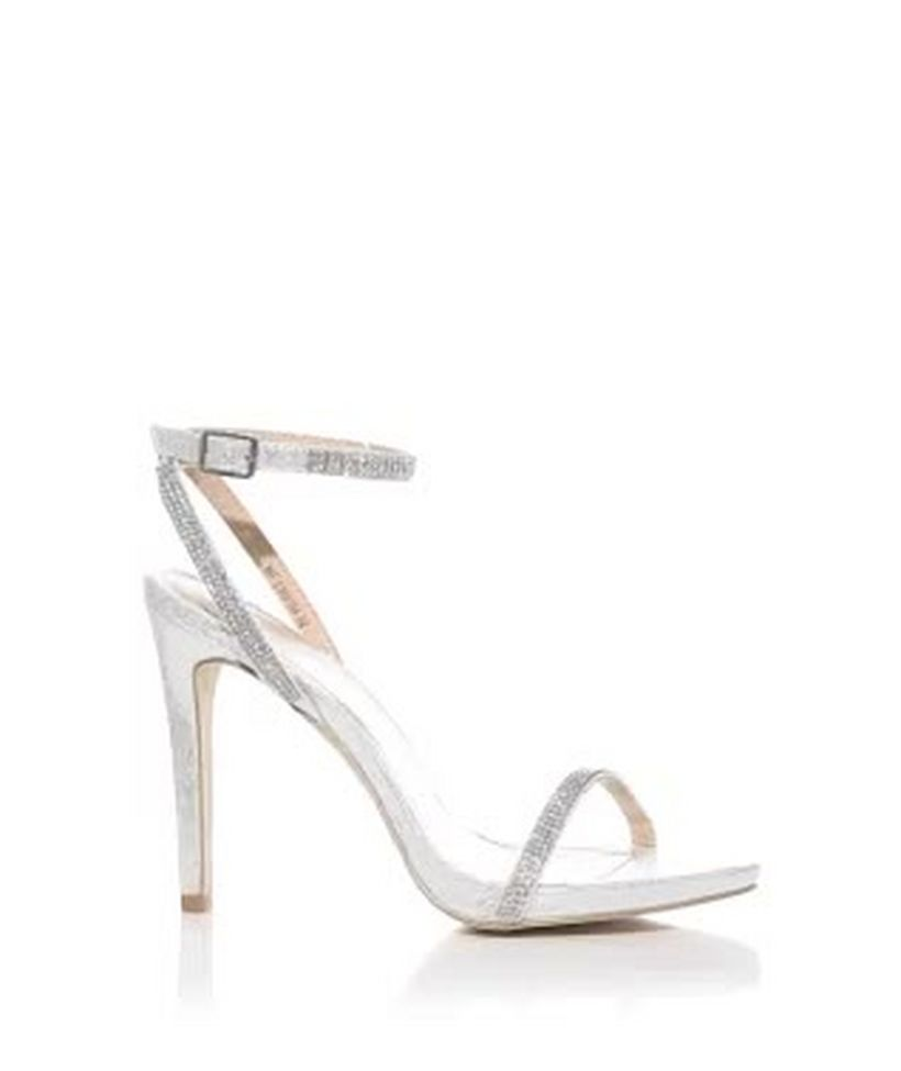 Silver Saved Embellished Items From To Add Heeled Diamante Sandals Remove nw8mN0